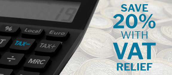Save 20% with VAT Relief